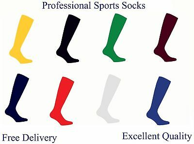Sports Plain Socks Rugby Hockey Soccer Quick Delivery Mens Womens Kids UK