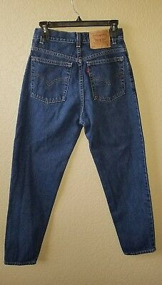 LEVI'S Jeans 550 Relaxed Fit Tapered Leg Medium Blue Wash Size 8 Mis M