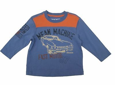 Graphic T Shirt infant Toddler Baby Boy Kids Children Long Sleeve Crew Neck Blue