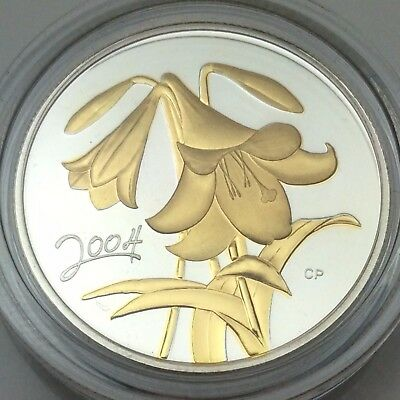 2004 Easter Lily Proof 50ct Gold-Plated 10838