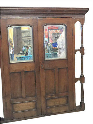 Antique Window Mirror Jharokha Spanish Style Decor Teak Rustic Eclectic 19C