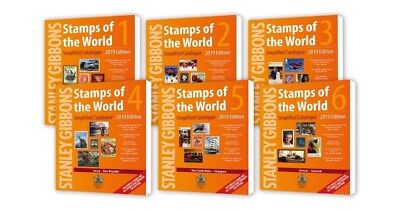 Stanley Gibbons Stamps Of The World 2018 Catalogue. 6 Volumes