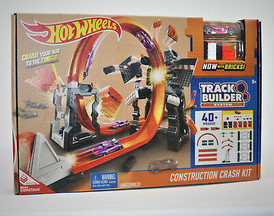 Hot Wheels Track Builder Mega Crashset, Bahn, HotWheels Construction Crash Kit