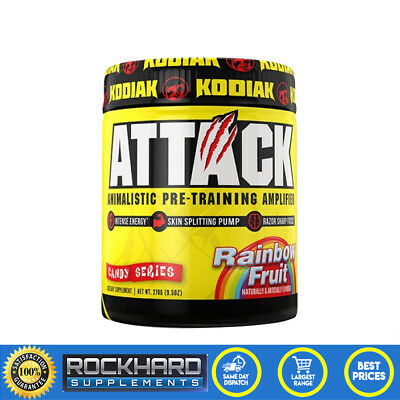 Attack Pre Workout Kodiak Sports Nutrition Energy Pump Focus Amplifier