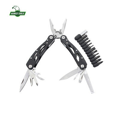 Black Army Fold Multi Knife Outdoor Camping Emergency Tool Survival Multi Tool