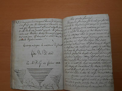 1827/8 antique manuscript 55 pages roman history Italy Rome emperors education