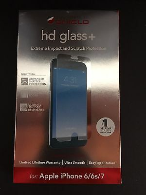 ZAGG INVISIBLE SHIELD GLASS+ FOR APPLE IPHONE 6/6s/7 NEW NEW
