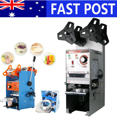 Automatic/Manual Cup Sealer Sealing Machine Coffee Boba Bubble Tea 400-500Cup/hr