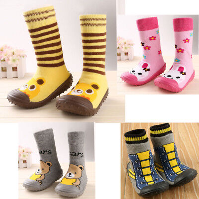 Cartoon Baby Kids Toddler Socks Anti-slip Sock Shoes Boots Floor Slipper Socks