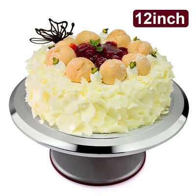 Cake Turntable Deocrating Rotating Revolving Stand Aluminum 12inch Baking Plate