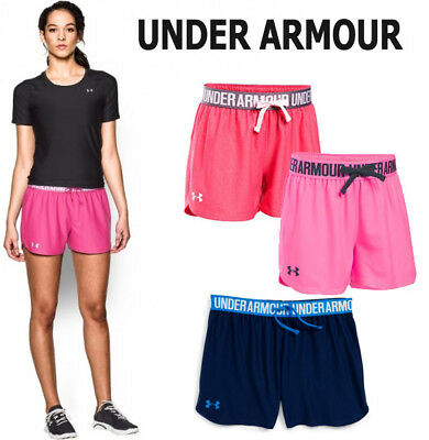 Under Armour Girls UA Play Up Athletic Running Shorts 7-16 S M L XL NEW NWT