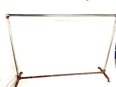 Vintage Industrial Steampunk Iron Pipe  Clothing Retail Rack Authentic
