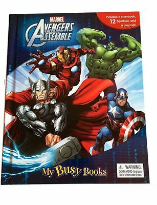 NEW Marvel Avengers Assemble My Busy Books & Figurines - Board Book