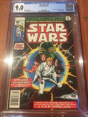 Star Wars 1 CGC 9.0 OW/White Pages Huge Key
