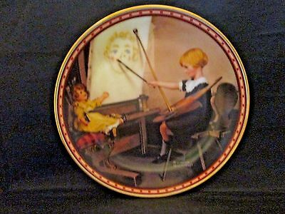 Serious Business Collector Plate Norman Rockwell Studies of Girlhood