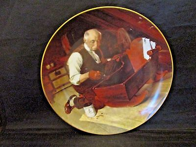 Grandpa's Gift Collector Plate Norman Rockwell Golden Moments