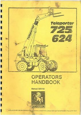 Sanderson Teleporter 624 & 725 Operators Manual