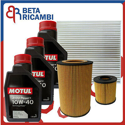 Kit Tagliando Smart 450 ForTwo 600 700 cc 1998-2004 + 3 L Motul 10W40 Power+
