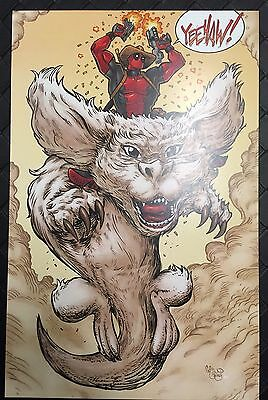 THE NEVERENDING DEADPOOL 11X17 Print Autographed Chris McJunkin Story Falcor