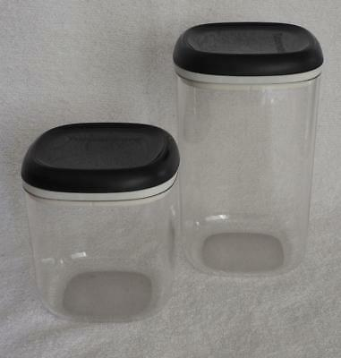 Tupperware Table Collection 1.3Ltr and 780ml Square Canisters - Set of 2 New