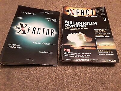 The X Factor 90's Paranormal Magazines 1-19 & Folder Vgc Ufo's Mysteries Covers