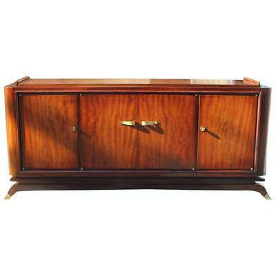 Fine French Art Deco Mahogany Sideboard Jules Leleu Style, circa 1930s AS IS