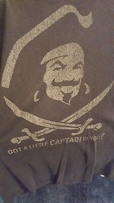 "CAPTAIN MORGAN ""GOT A LITTLE CAPTAIN IN YOU?""  OFFICIAL T-SHIRT Medium"