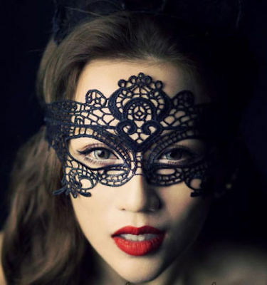 Ladies Lace Mask Halloween Masquerade Ball Venetian Sexy Costume Fancy Dress