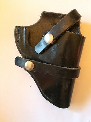 Bucheimer Perfect Fit B52 Gun Holster Black Leather Snap Fasteners Vintage