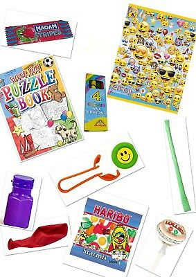 8 x Filled Emoji Party Bag Childrens Ready Made Loot Bags