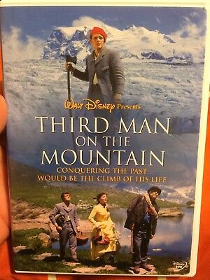 THE THIRD MAN ON THE MOUNTAIN (1959) DVD OOP! RARE! (Disney, 2004) James MacArth