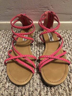 07e9d24ab1d Steve Madden Kammi Gladiator Sandal Pink Leather Women s US Size 6.5 - worn  once