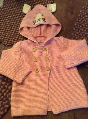 Baby Boden Baby Girls Hooded Sweater Coat..6-12 Months