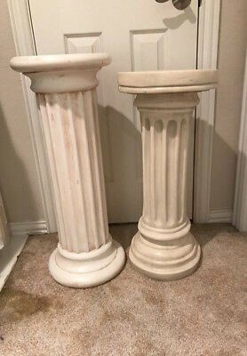 Vintage Large Ornate Pedestal Column Greek Roman Plant Stand