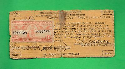Philippines 1942 (Nd) P2.50 Cagayan Currency W/ Revenue Stamp S-166