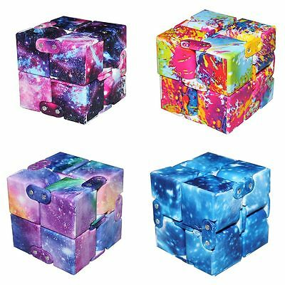 Newest Galaxy Infinity Cube EDC Mini For Stress Relief Fidget Anti Anxiety