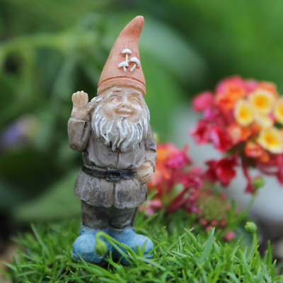 Fairy Garden  Itty Bitty Billy The Gnome Miniature Gnome with stake, miniature
