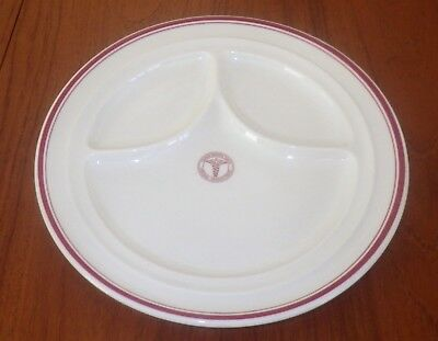 "WWII Era Shenango China United States Army 11 1/4"" Round Divided Dinner Plate"
