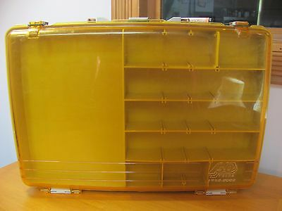 RARE Plano 50 Years 1952-2002 2-Level Satchel Briefcase Tackle Box 1155 Amber