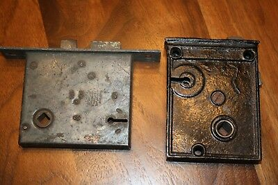 Antique Mortise Door Locks Russell & Erwin 1889 & Unknown Vintage Door Hardware