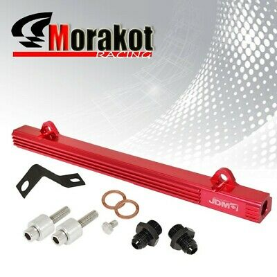 Jdm Sport EVO 4-9/ Eclipse 95-99 4G63 Engine Aluminum Top Feed Fuel Rail Kit Red