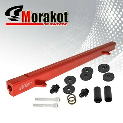 Jdm Sport R32 R33 R34 RB25 RB25DET Engine Aluminum Top Feed Fuel Rail Kit Red