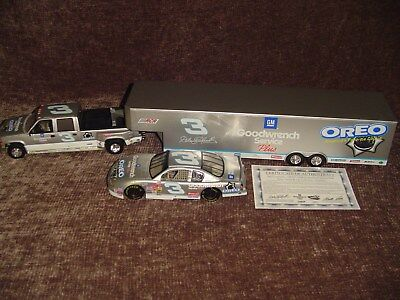 Dale Earnhardt 2001 #3 Oreo Goodwrench Silver Incentive Hauler RARE 1 of 1004