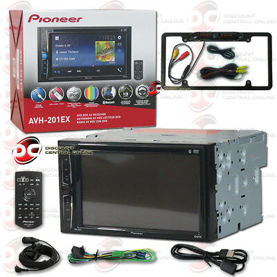 "Pioneer Avh-201Ex Car 6.2"" Lcd Dvd Cd Bluetooth Stereo Black Full License Camera"