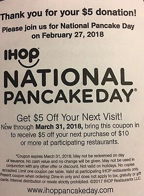 ****IHOP-International House Of Pancakes-Coupon***save 5.00**