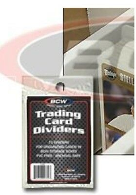 BCW Trading Card Dividers Baseball Card Sports Card Gaming Card 10 /PK