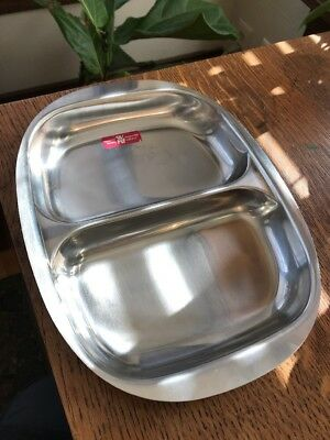 VTG 18/8 STAINLESS STEEL DIVIDED SERVING DISH FRASERS WMF MADE IN SWEDEN Cultura