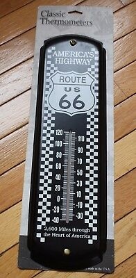 Vintage America's Highway US Route 66 Metal Thermometer