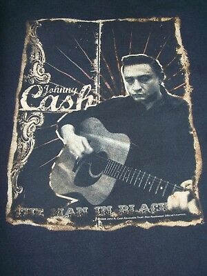 Johnny Cash 2006 Concert  Tour T Shirt Size Large The Man In Black