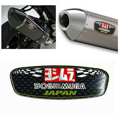 Yoshimura Aluminium Ellipse Heat-resistant Motorcycle Decal Exhaust Pipe Sticker